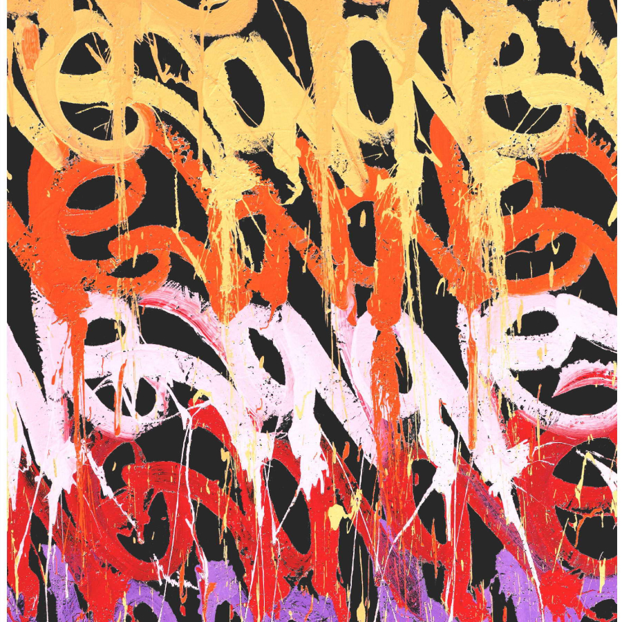 Tapis signé et numéroté de JonOne Galerie Boccara