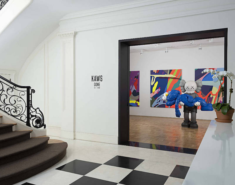 A KAWS exhibit at the Skarskedt Gallery in New York