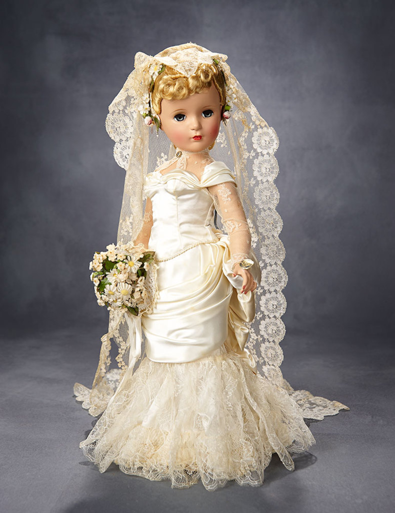 """Exquisite """"Victorian Bride"""" Portrait Doll, Couture Quality, Rare Mystery Series, 1951"""