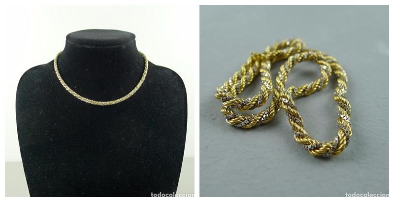 Collar de oro blanco y amarillo