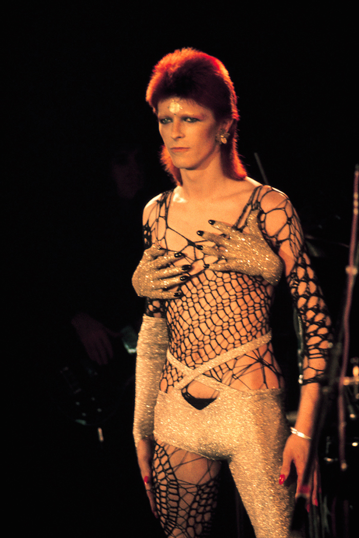 Bowie som Ziggy Stardust på scen. Foto: selvedgeyard.com