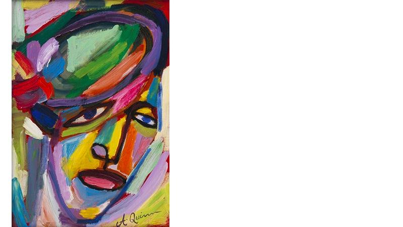 ANTHONY QUINN (1915 Chihuahua - 2001 Boston) - Paris Girl, Acryl/Lwd., betitelt und signiert