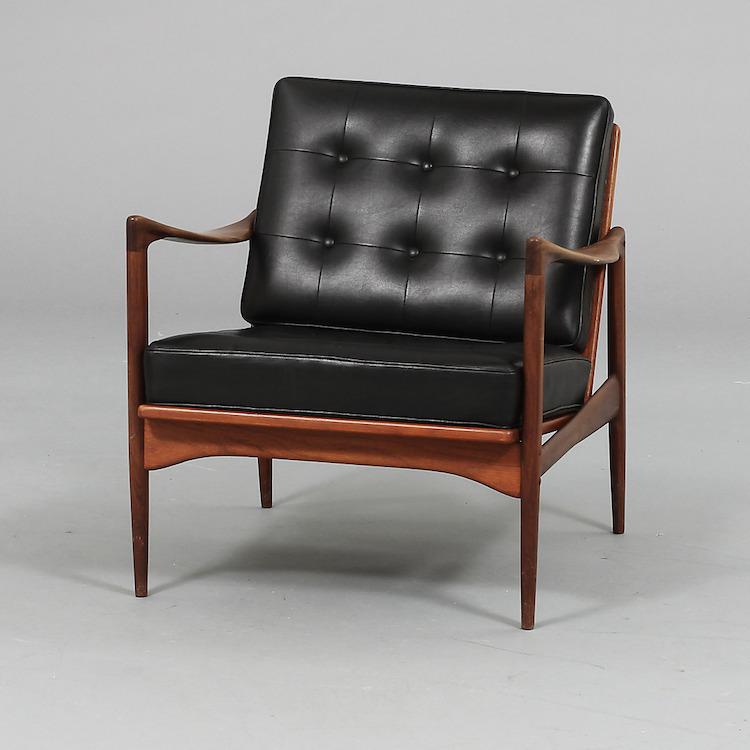 Fåtölj, Ib Kofod Larsen, OPE, Jönköping, 1900-talets mitt. Utrop: 1 500 SEK. Göteborgs Auktionsverk
