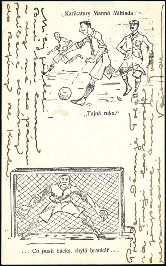 1906, République Tchèque, carte postale David Feldman
