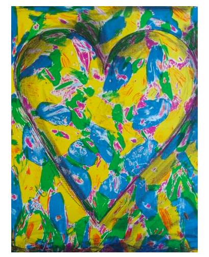 """Jim Dine (estadounidense, n. 1935), """"Corazón azul"""", de 2005, litografía de color, firmada, anotada, ed. 200"""