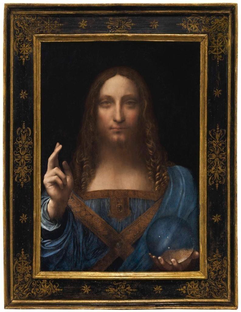 Salvator Mundi de Leonardo da Vinci a été vendu chez Christie's pour 450,3 millions de dollars en novembre 2017, image ©Christie's
