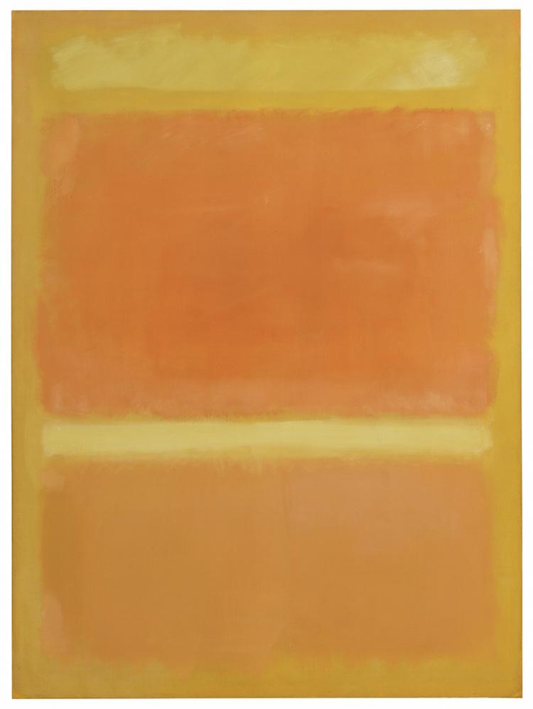 MARK ROTHKO. UNTITLED (YELLOW, ORANGE, YELLOW, LIGHT ORANGE), 1955. Estimate $20,000,000 — $30,000,000. Photo via Sotheby's