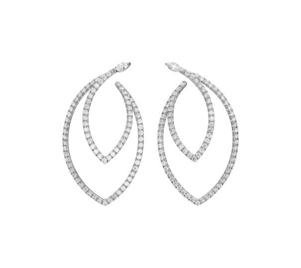 Diamantörhängen, signerade 'Margherita Burgener', nr. 33801501. Utrop: Phillips Auctions