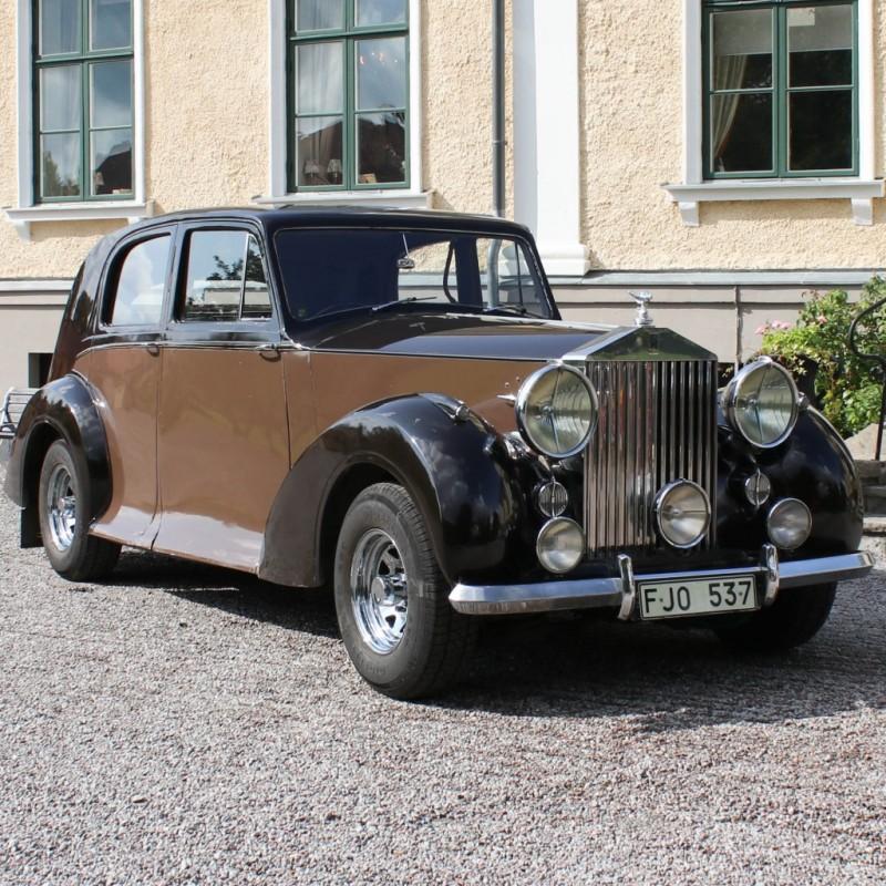 Rolls-Royce Silver Wraith 1947, tidigare ägd av Torsten Kreuger. Foto: Bålsta Auktionshall.