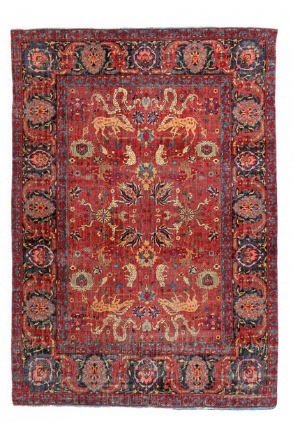 Keschan/Isfahan, Baumwolle/Wolle, 172 x 118 cm, Persien, datiert nach C-14 Analyse 17. / 18. jhdt. Schätzpreis: 50.000 - 70.000 EUR