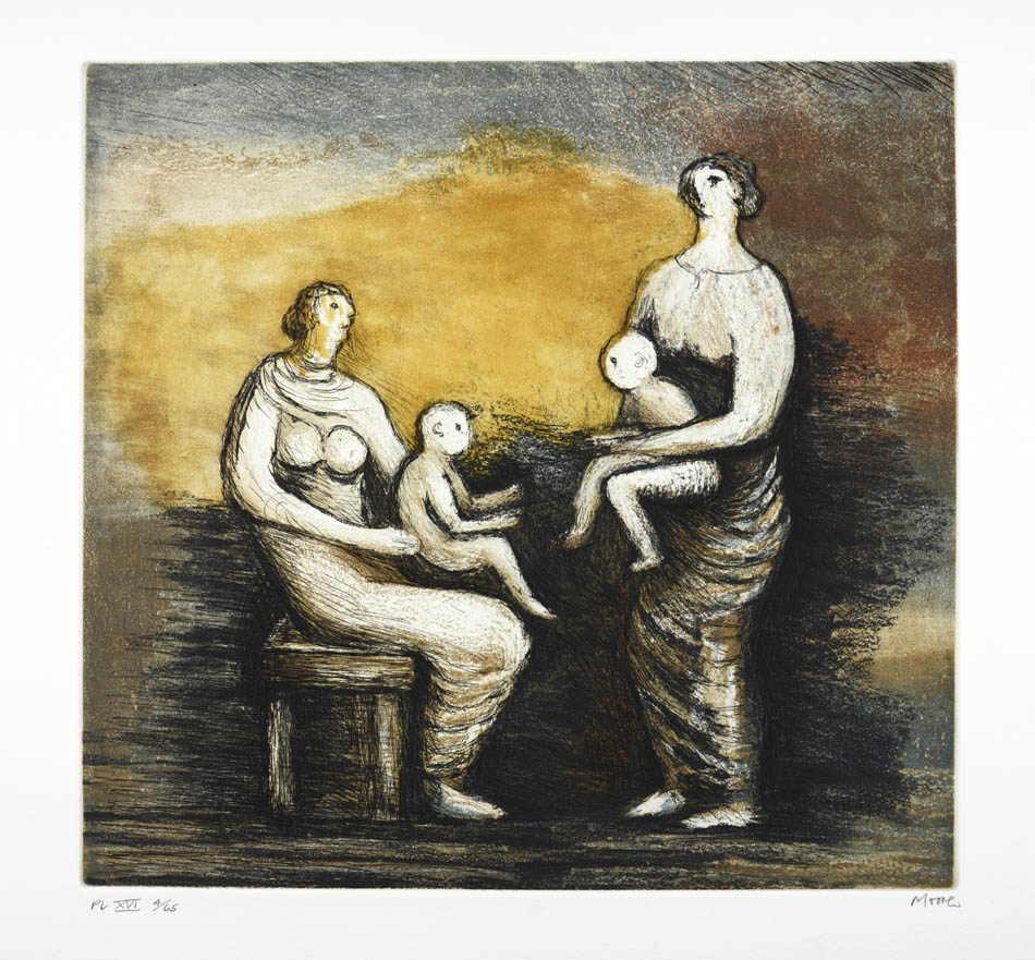 Henry Moore Plate XVI Mother & Child (C. 686) 1983 Shapero Rare Books