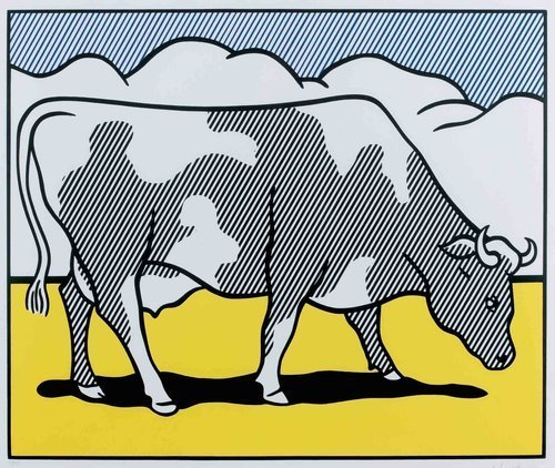 Roy Lichtenstein, 'Cows Going Abstract', 1980, offset lithograph. Photo: Alyes Auctions.