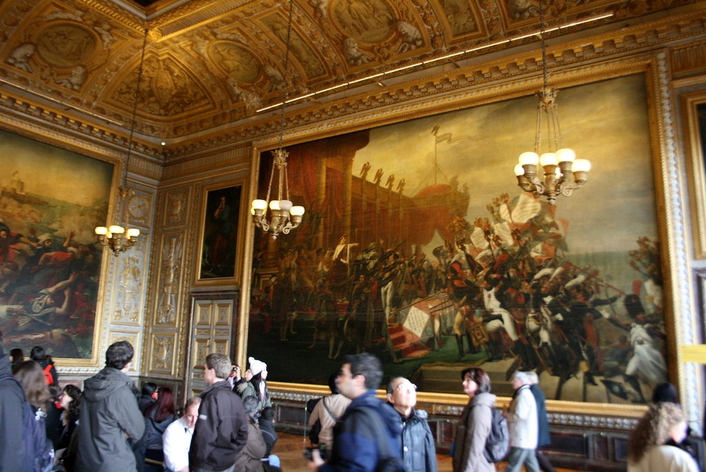The Distribution of the Eagle Standards in the Coronation Room at Versailles. Image: Flickr