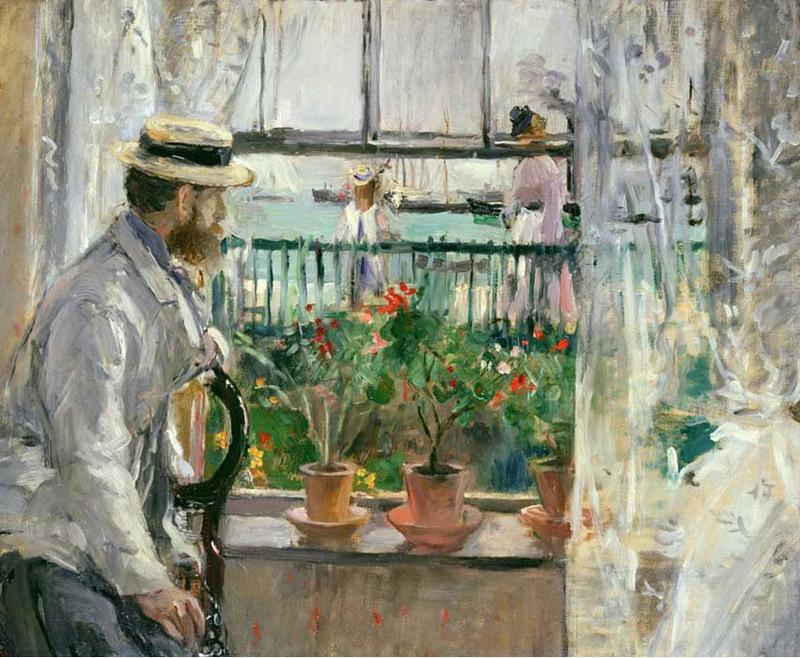"""BERTHE MORISOT. """"Eugène Manet à l'Île de Wight"""" (1875). Imagen vía: The Art Slack"""