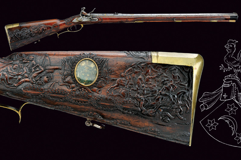 Stone lock gun from the baron of Beulwitz, southern Germany, 3rd quarter of the 17th century