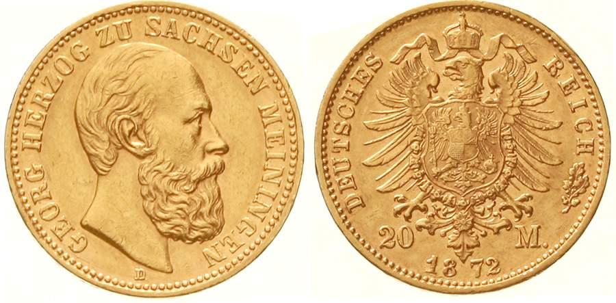 Sachsen-Meiningen Georg II. 20 Mark 1872