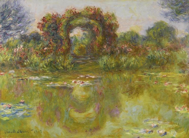 Claude Monets Bassin aux Nymphéas, Les Rosiers