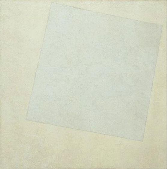 Carré blanc sur fond blanc Kazimir Malevitch, 1918 Image via histoiredelart.net