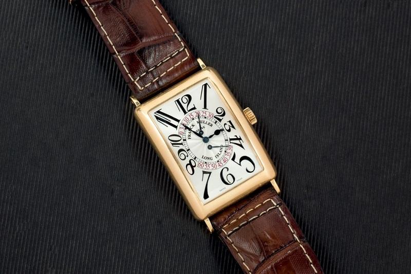 Lote 239: Reloj FRANCK MULLER de oro, modelo Long Island. Precio de salida: 11.000 €