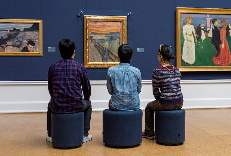 Edvard Munchs Skriet. Bild nasjonalmuseet.no