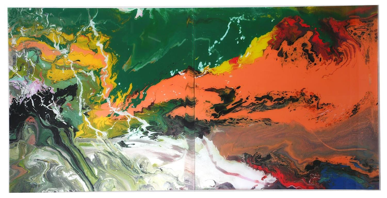 Gerhard Richter, 'Flow (P15)'. Image: Chiswick