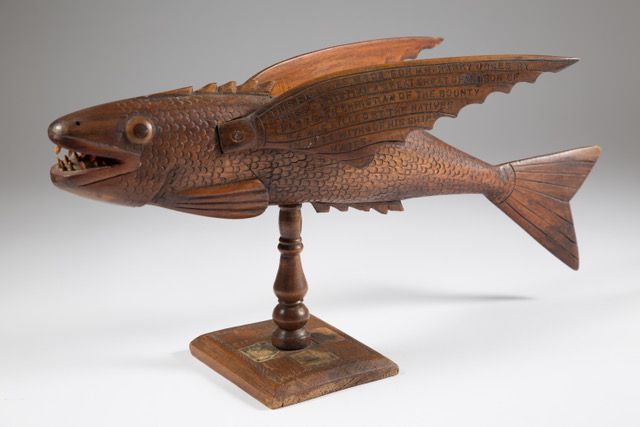 Hardwood flying fish