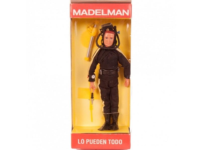 Antiguo muñeco MADELMAN submarinista
