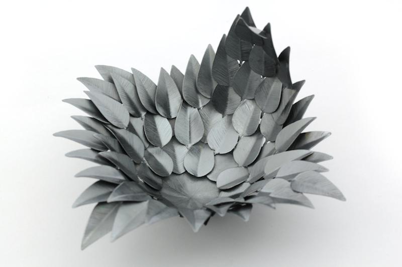 "Skål ""Black Feathers"", silver, Erik Tidäng,"