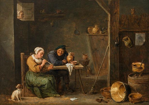 DAVID TENIERS D. J. ((Antwerpen 1610 - 1690 Brüssel) - Die neugierige Alte, Öl/Holz, signiert, Mitte 1660er Jahre