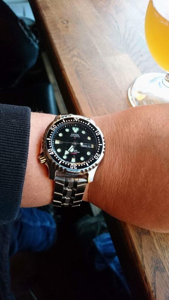 Todays Wristshot: Citizen Promaster, ref:NY0040(Photo: M. Fredrickson)