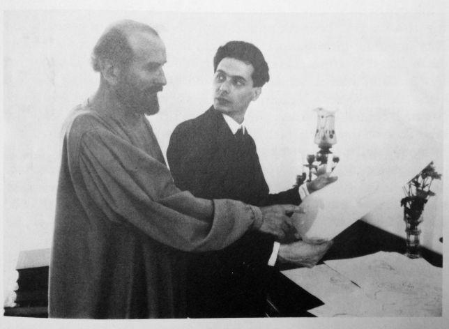 Gustav Klimt et Egon Schiele, 1908, via Artspers