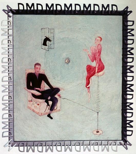 "Florine Stettheimer, ""Marcel Duchamp"", 1923."