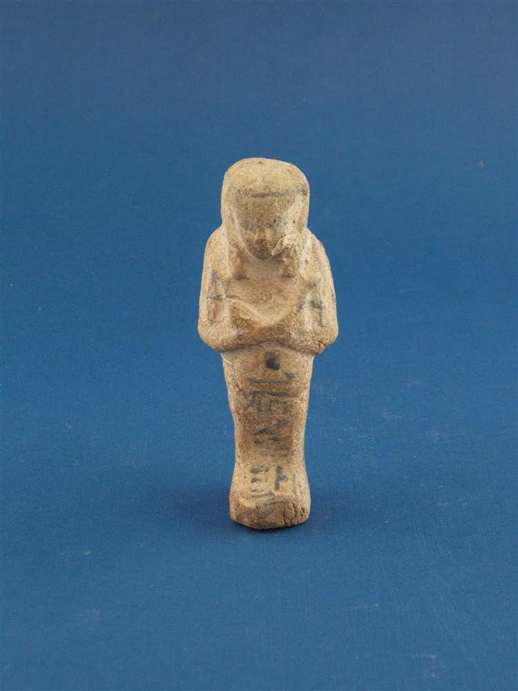 Ushebti aus polychrom bemalter Terracotta, Ägypten, 21./22. Dynastie (1069-850 v. Chr.)