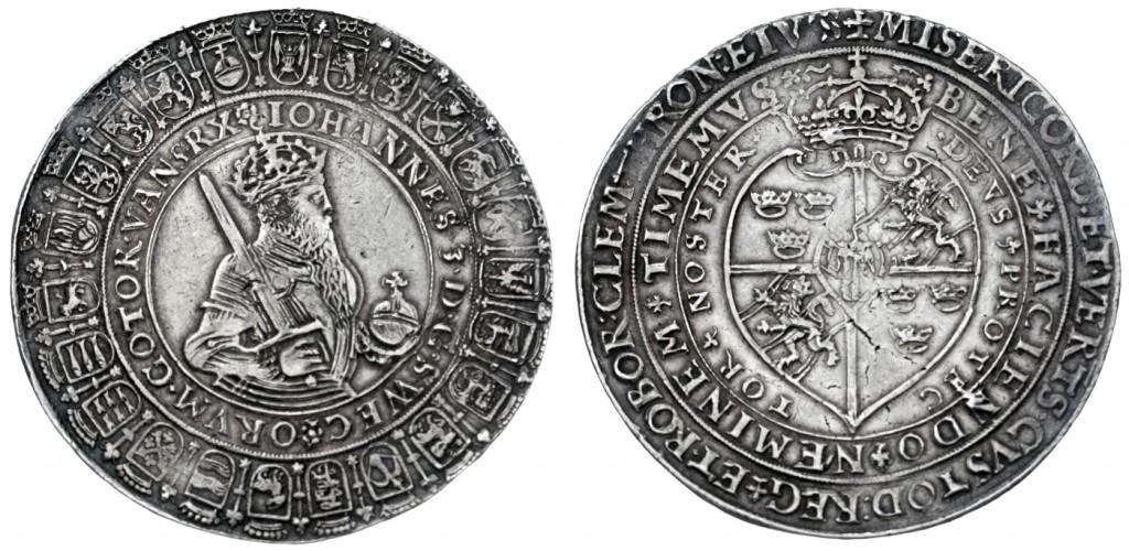 Schweden - Johann III. (1568-1592), 2 Rigsdaler ohne Jahr (1587), Stockholm Schätzpreis: 5.000 EUR