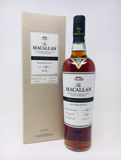 The Macallan 2003-2017 Exceptional Single Cask #9100/13. Photo: WVA Whisky & Fine Wine Auctions