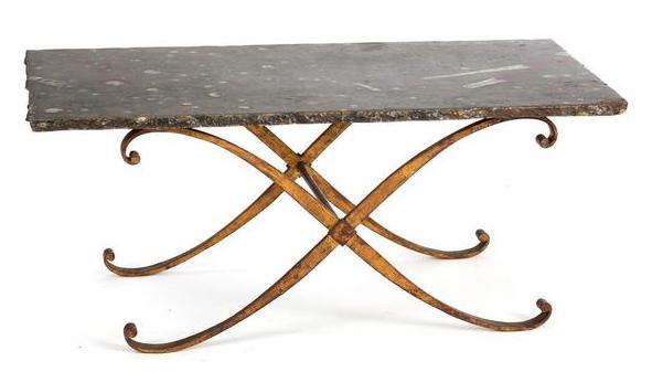 Attribué à Raymond SUBES (1890-1970) Piètement de table basse Azur Enchères