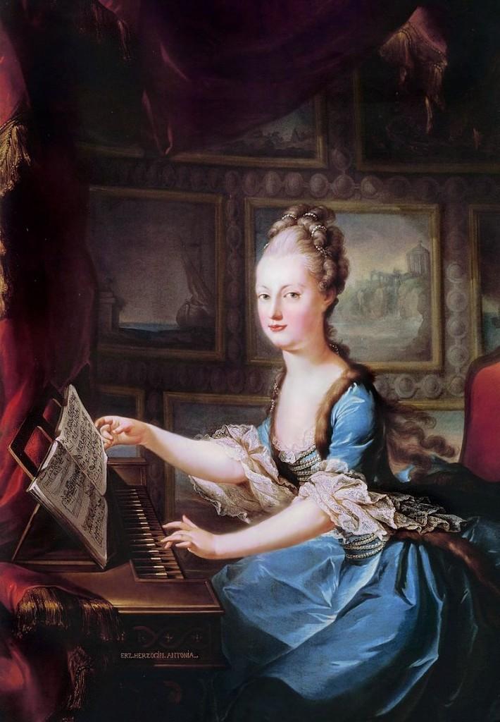 Franz Xaver Wagenschön, Marie Antoinette am Spinett, ca. 1769