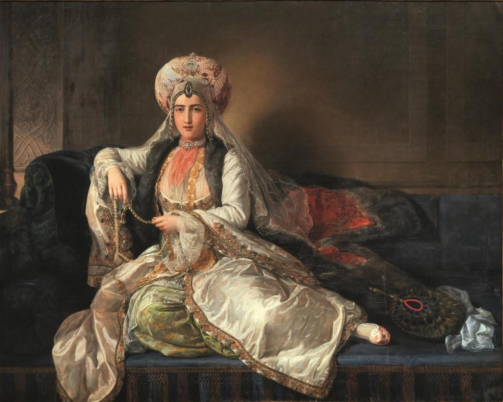 PIETRO LUCHINI (Bergamo 1800 - Bologna 1883) - La Sultana, Öl/Lwd., 170 x 216 cm, signiert und datiert, 1860 Schätzpreis: 20.000-30.000 EUR