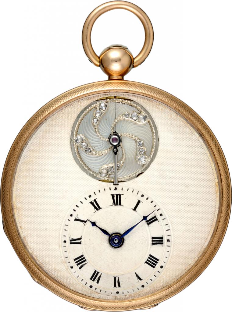 Fickur i guld och diamanter, Frankrike, 1800-tal. Signerad Breguet.