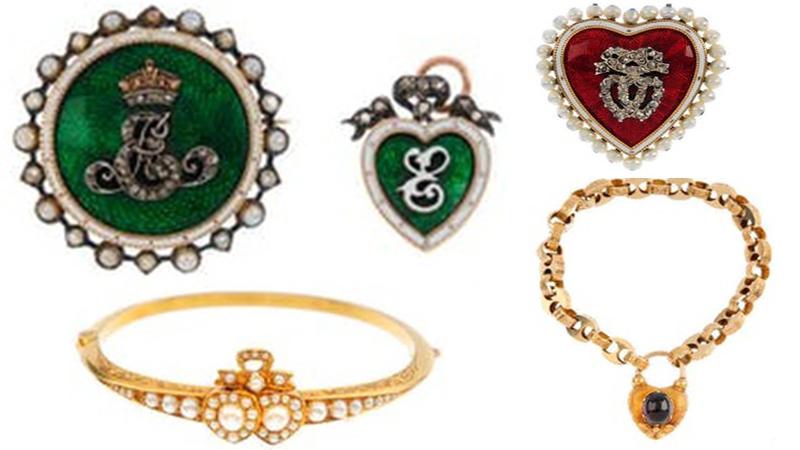 心狀設計的維多利亞時代古董珠寶首飾