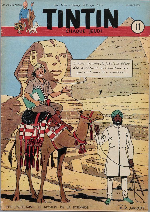 Couverture du journal Tintin n°11 du 16 mars 1950
