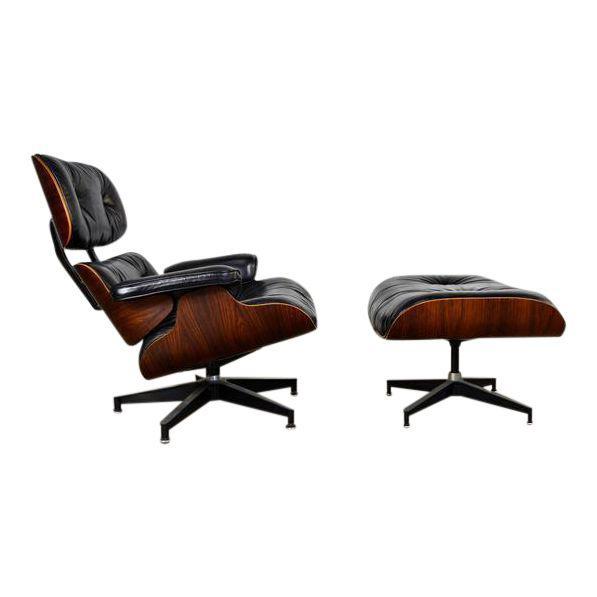 EAMES Lounge Chair mit Ottomane 670 & 671 DECASO