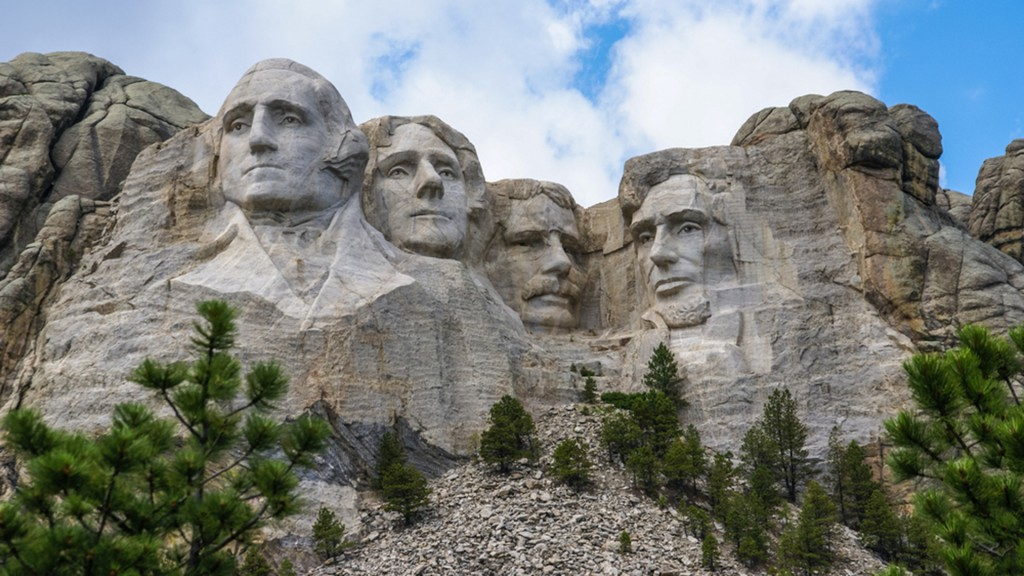 GUTZON BORGLUM/LINCOLN BORGLUM - Mount Rushmore National Memorial, Black Hills, South Dakota, 1927-41 Foto via today.com
