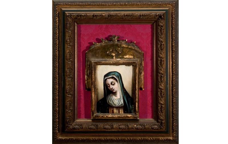 "JUAN DE CAMARGO. ""Virgen"". Óleo sobre tabla firmado (S. XVI)"