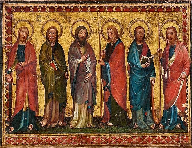 Maître du Retable de Siefersheim, radius (fin XIVe - début XVe siècle), « Six Apôtres »