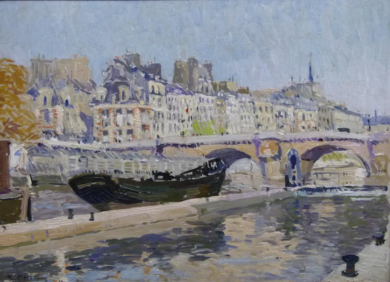 Paul Mathieu (1872 – 1932 Brüssel), Seinebrücke in Paris, Paris 1919, signiert, Öl/Malerpappe Schätzpreis: 4.000 EUR