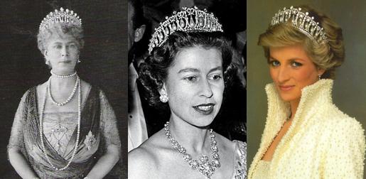 La Cambridge Lover's knot tiara est passée sur la tête de quatre générations