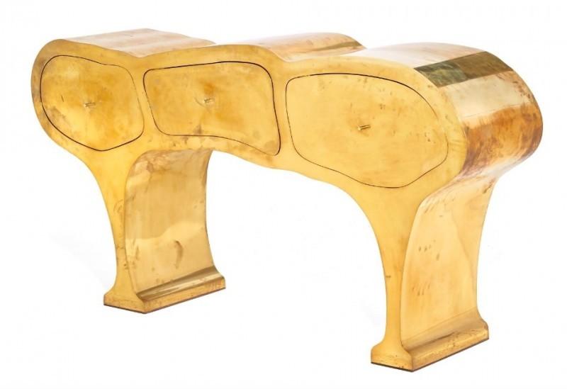 """Werner Nuemann, """"Organic Brass Cabinet""""."""