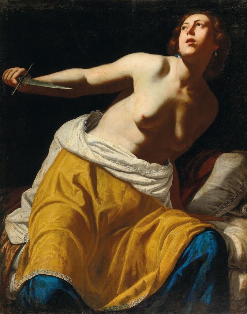 Artemisia Gentileschi, 'Lucretia', oil on canvas. Photo: Dorotheum