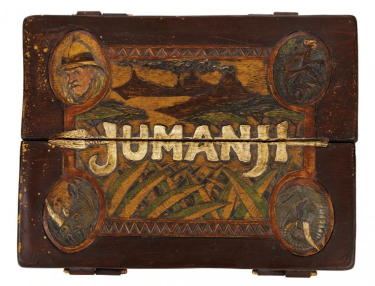 """Jumanji original screen-used """"carry board"""" game with letter from director Joe Johnston. (TriStar, 1995) Estimated at $30,000 - $50,000. Profiles of History"""